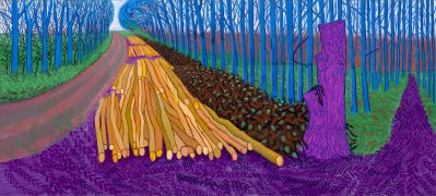 David Hockney. The Charming King