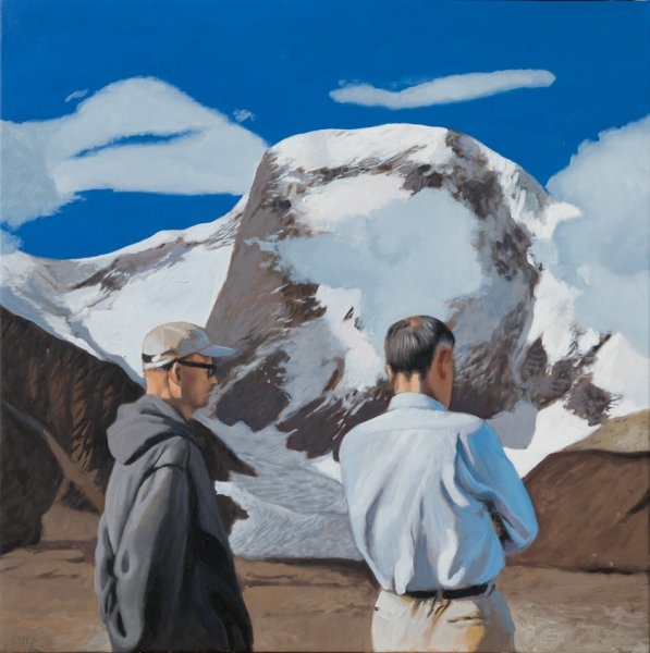 El rumor de la montaña, 2016. Oil on canvas. 75 x 75 cm.
