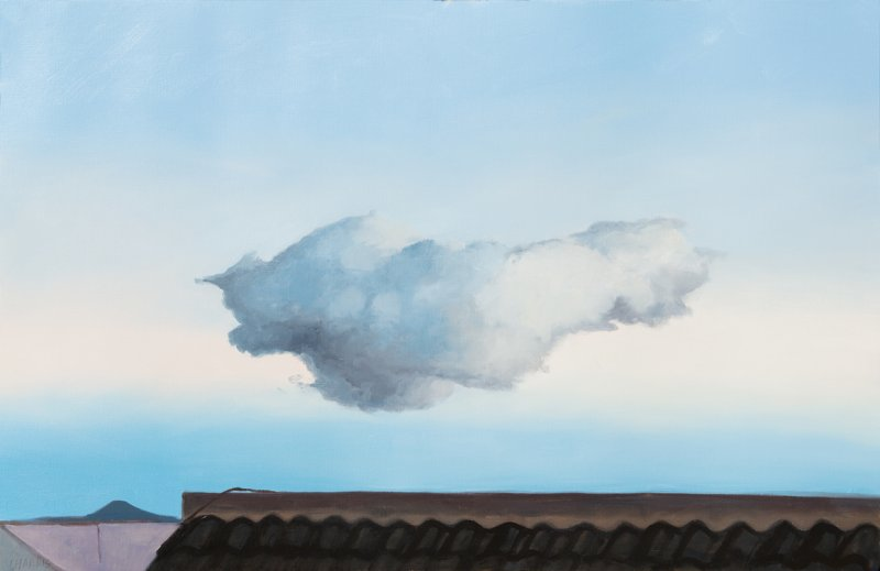 Nube, 2017. Oil on paper. 65 x 100 cm.